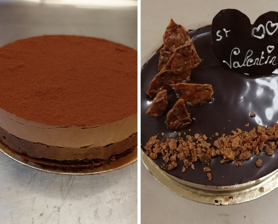 Recette CAP pâtissier, semaine 12 : Royal + Croustillant Chocolat + Sucre coulé (dont croustillant, nougatine, mousse au chocolat)