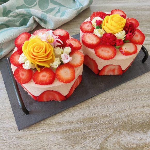 fraisier crème mousseline a la fraise