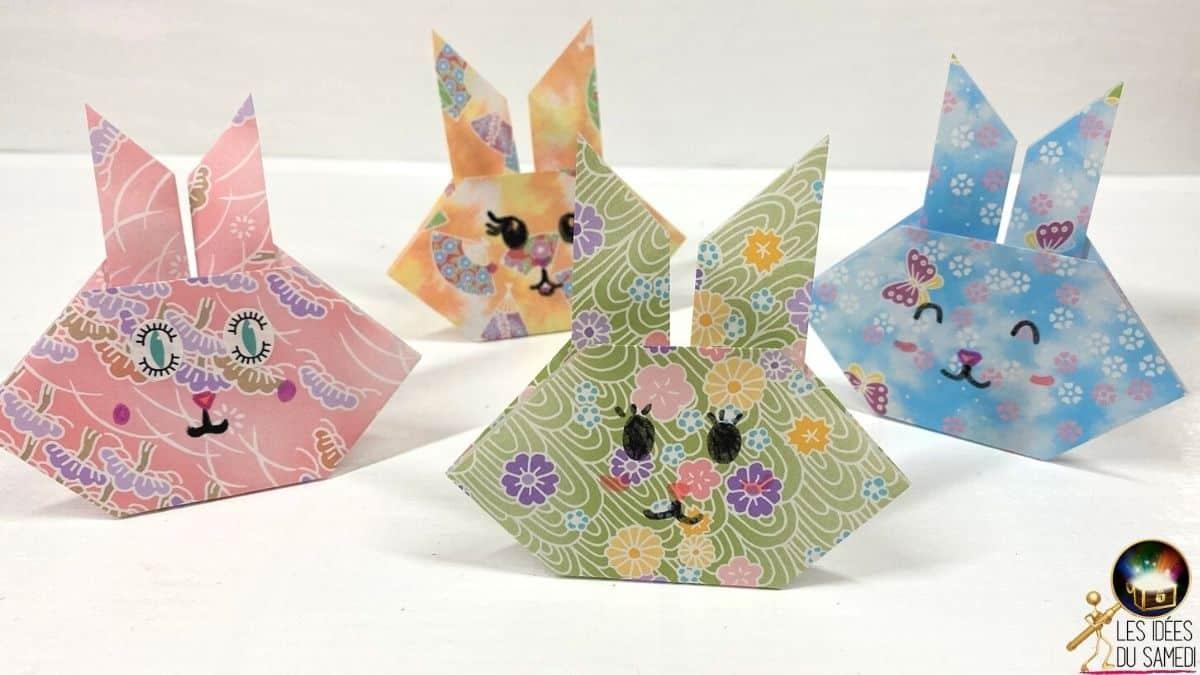 Lapin En Origami Facile A Faire Pour Paques