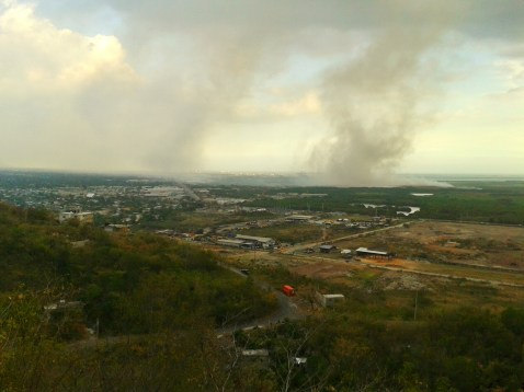 View of Kingston during the Riverton Fires of 2015