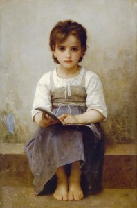 The Difficult Lesson -- by William Adolphe Bouguereau, 1884