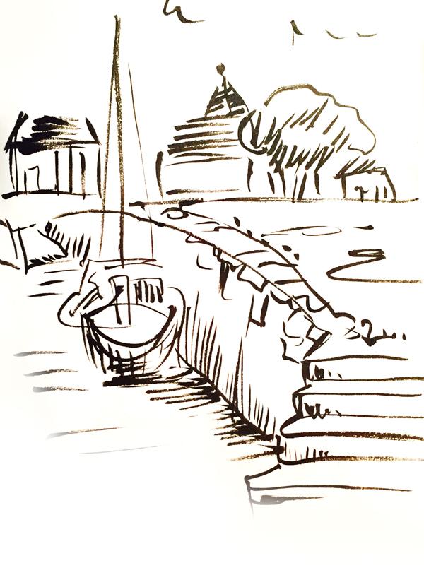 bateau-port-aquarelle-dessin-2