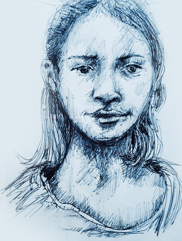 dessin-fille-tv-portrait-1