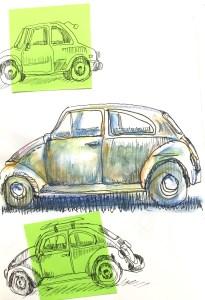mexique-rue-village-dessin-croquis-voiture