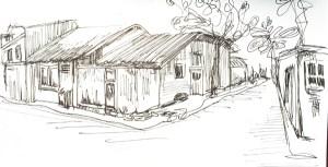 mexique-rue-village-dessin-croquis