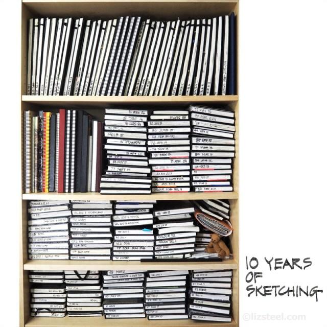 LizSteel-10-annes-sketching-sketchbooks