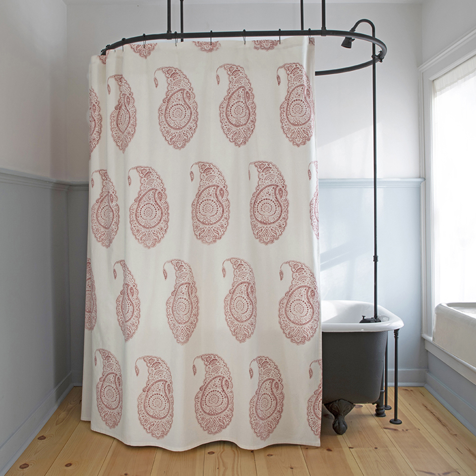 Pierrette Shower Curtain In Red Les Indiennes