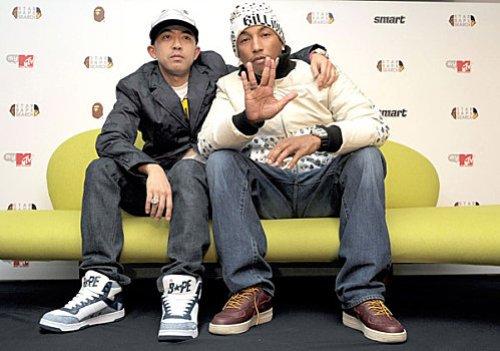 Nigo & Kanye West.