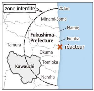 Zone interdite autour de la centrale de Fukushima