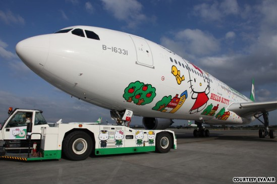 Hello Kitty Avion, Eva Air.