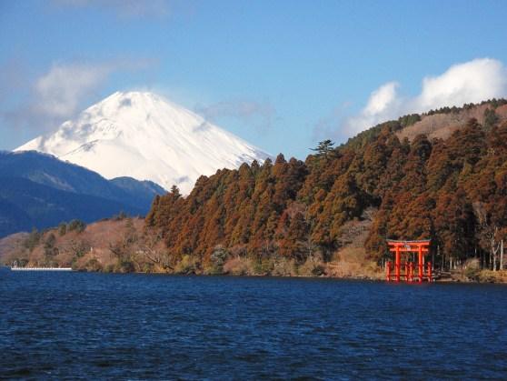 Lac Ashi, et mont Fuji.