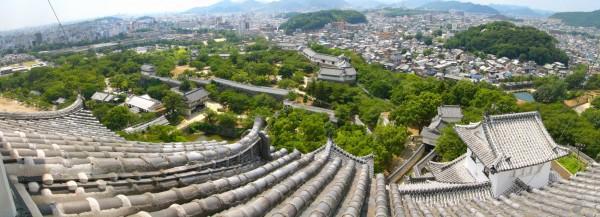 Vue panoramique du château de Himeiji