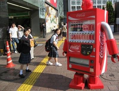 Jidohanbaiki Coca Cola, robot.