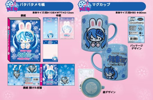 Miku x Hello Kitty -mémo et mug