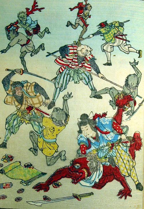 Momotaro, illustration de 1885. (anonyme)