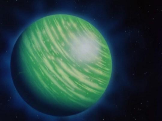 La planète Namek, par Akira Toriyama.