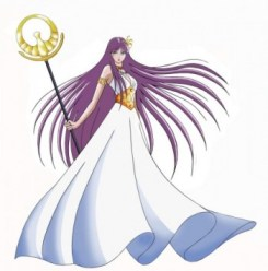 Saori (Athena) dans la série animée Saint Seiya