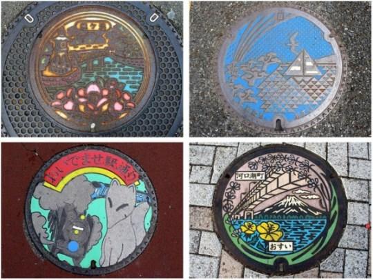 plaque d'égout au Japon (2b)