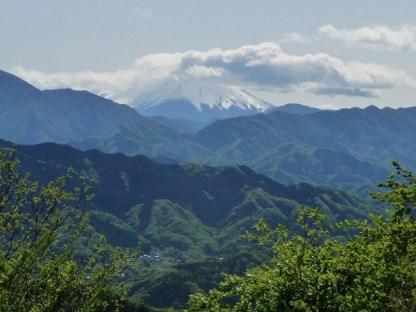 Vue sur le Mont Fuji depuis le mont Takeo