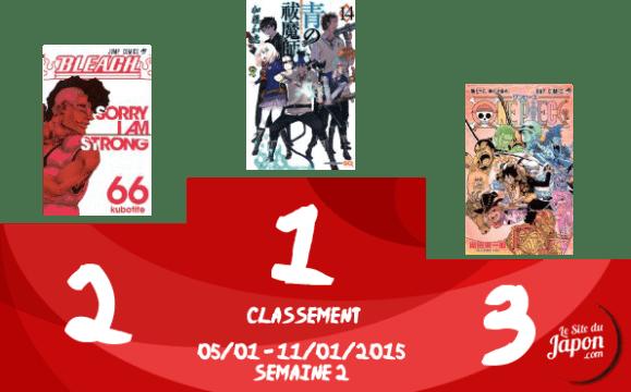 Classement Manga 2015 | semaine 02