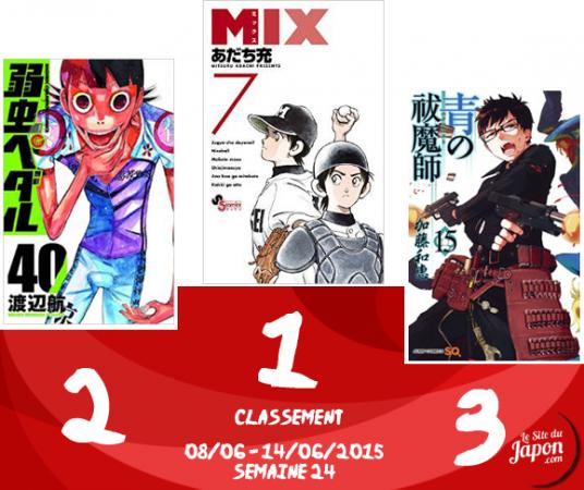 Classement Manga 2015 | semaine 24 | 08/06 au 14/06
