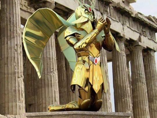 Armures chevaliers d'or verseau