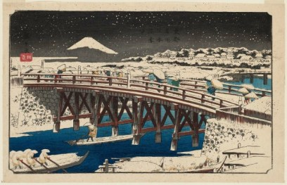 nihonbashi neige hiroshige