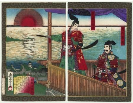 Hideyoshi & Tokugawa Ieyasu. Estampes.
