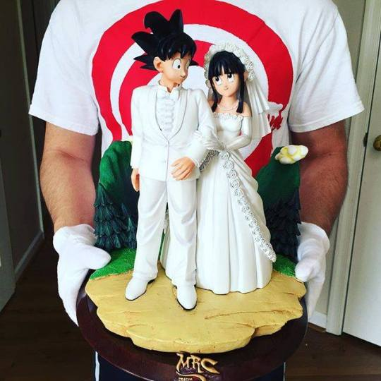 Goku et Chichi mariage figurine