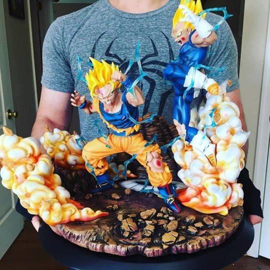 Figurines dragon ball - Vegeta vs San goku
