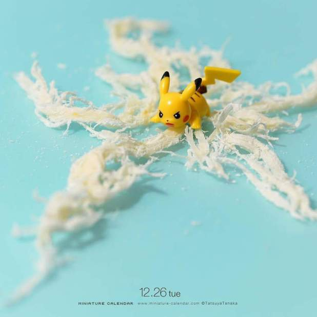 Calendrier miniature Tatsuya Tanaka Pikachu Energie