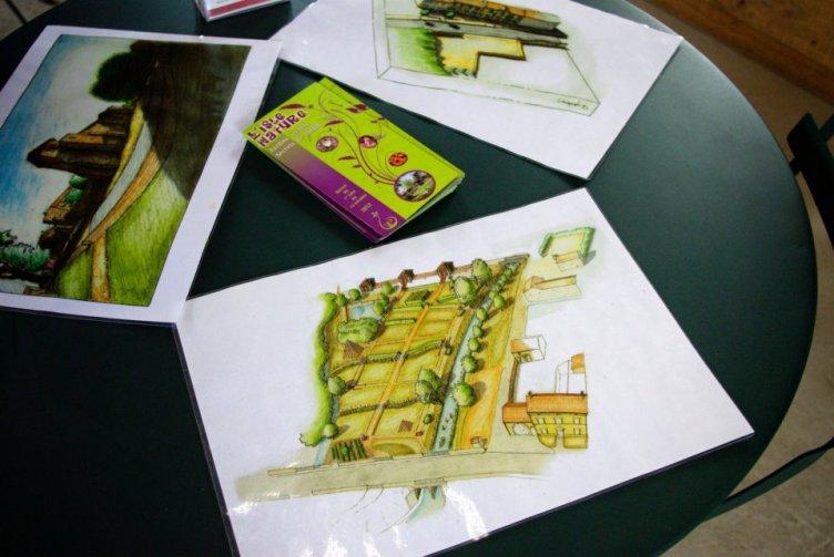 Inauguration des jardins et dessins de Damien Chiquet