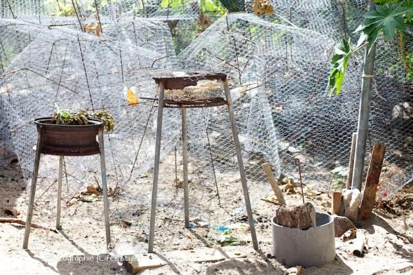 barbecue et cage de peche Anse Dufour Martinique