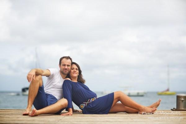 Seance grossesse en famille a la plage Martinique 12