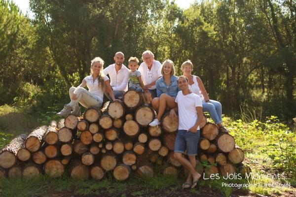 Seance photo grande famille au Courant d huchet 26