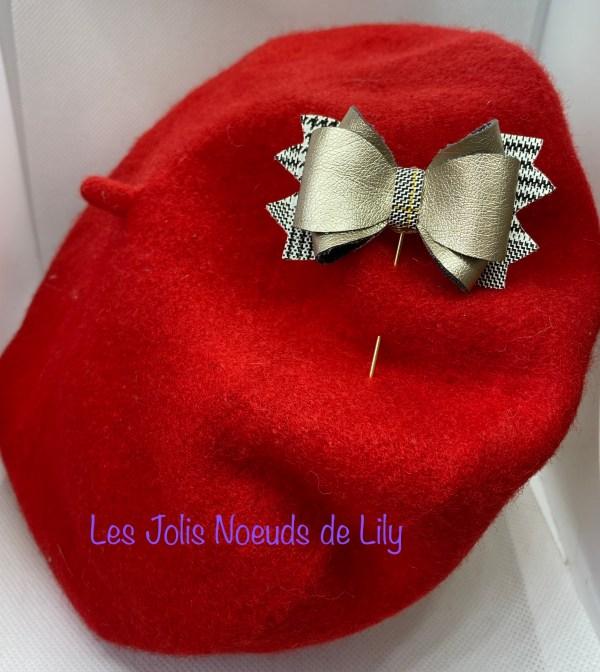 broche noeud pic à chapeau création