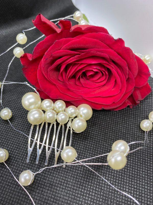 peigne de cheveux de mariée perles