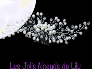 peigne cheveux bijou de tête vigne de mariée perles
