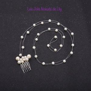 peigne de cheveux mariage perles
