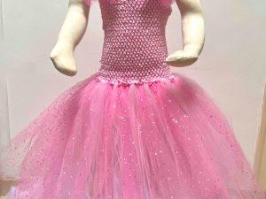 robe de princesse demoiselle d'honneur déguisement de princesse petite fille robe tulle noeud