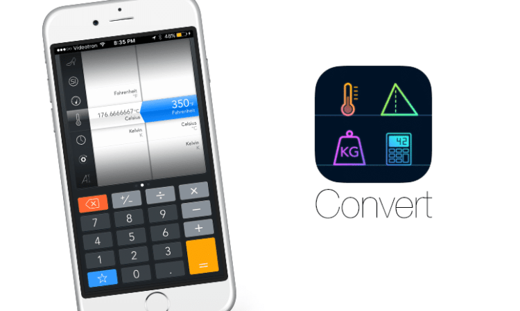 Application CONVERT sur iphone