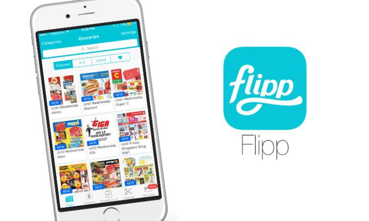 Application FLIPP sur iphone