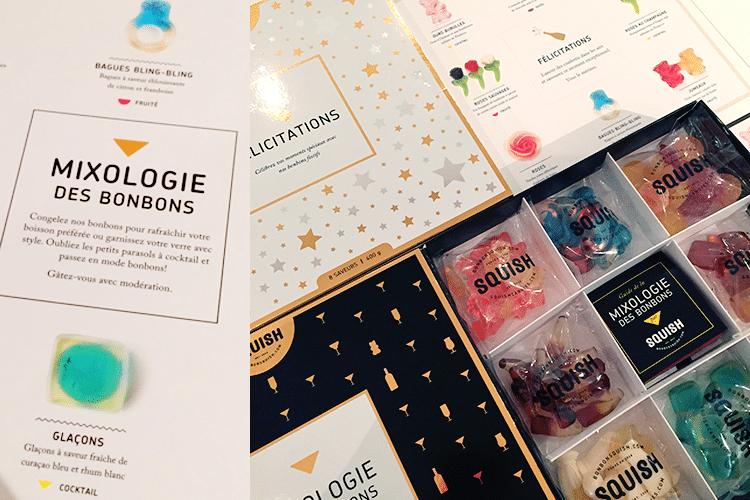 La boîte cadeau MIXOLOGIE, premier item sur ma liste pour le Père Noël cette année! Des jujubes à agencer avec des cocktails, recettes comprises... quelle bonne idée!