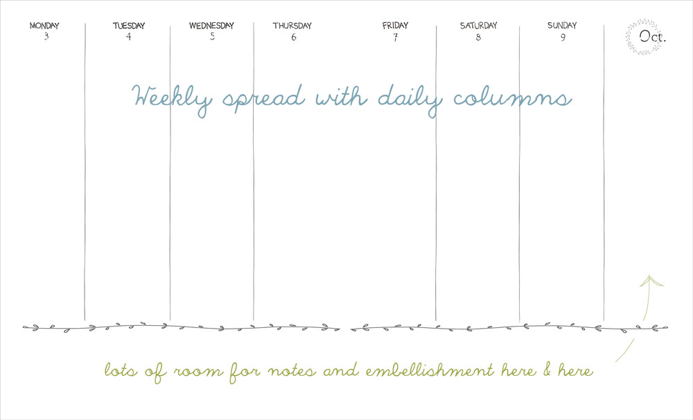 weekly-columns-for-daybook-page-with-border