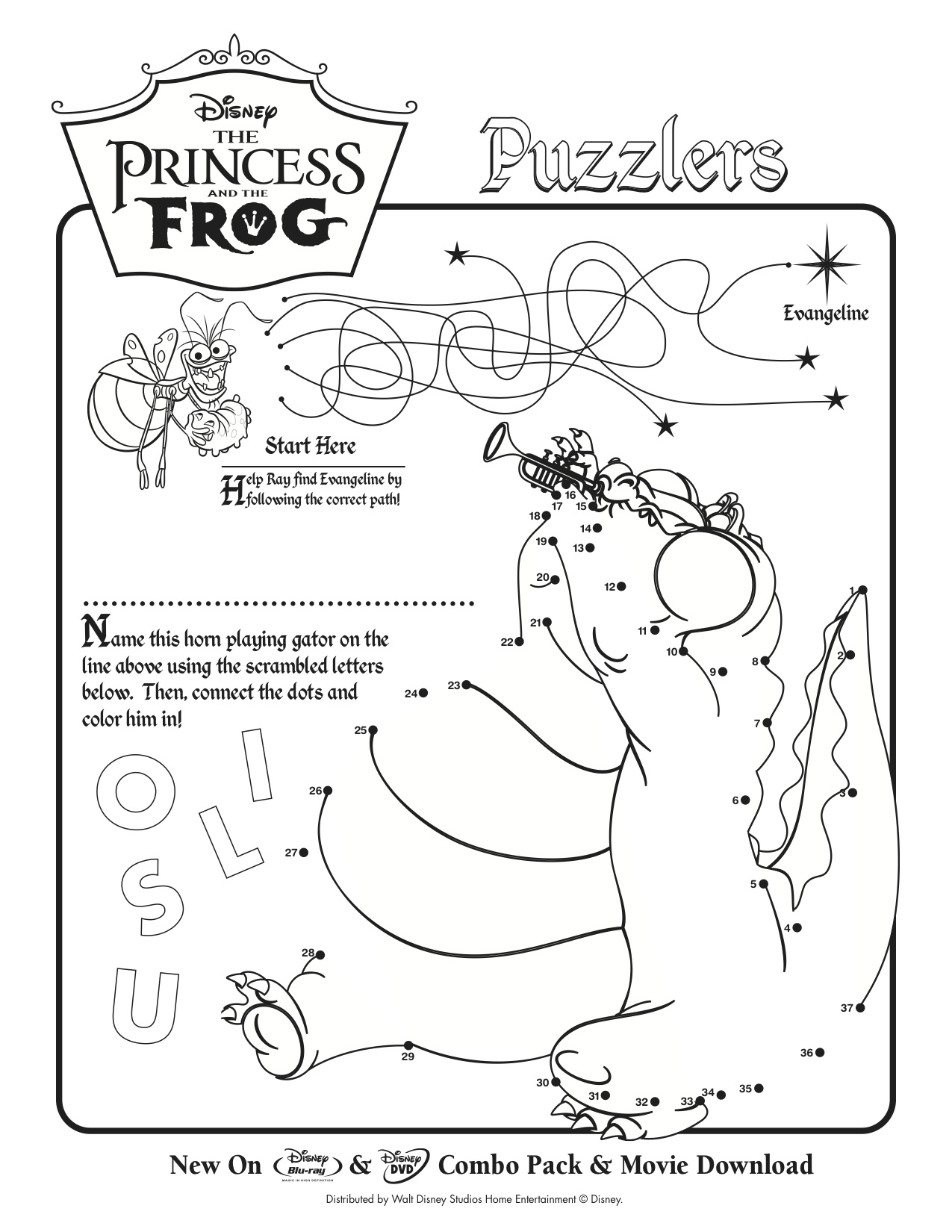 Life With Lesley Free The Princess Amp The Frog Coloring Amp Activity Sheets