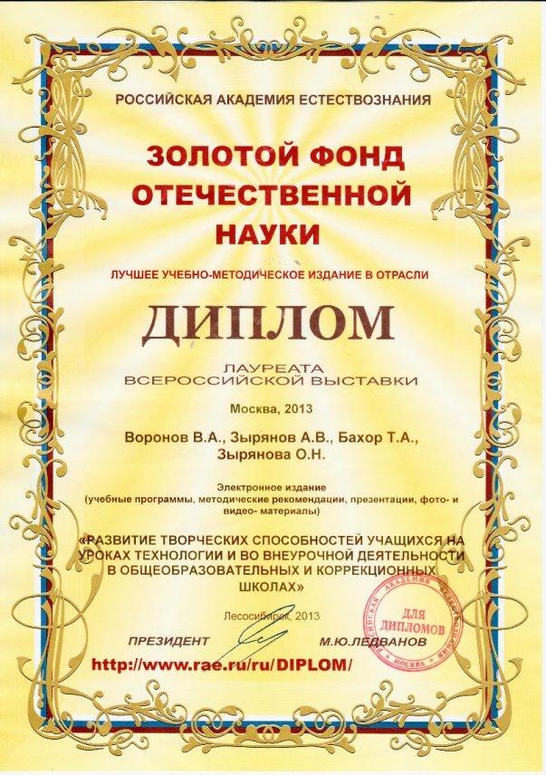 Диплом РАЕ 2013