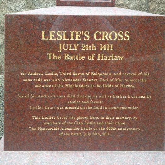 Leslie's Cross at Chapel of Garioch