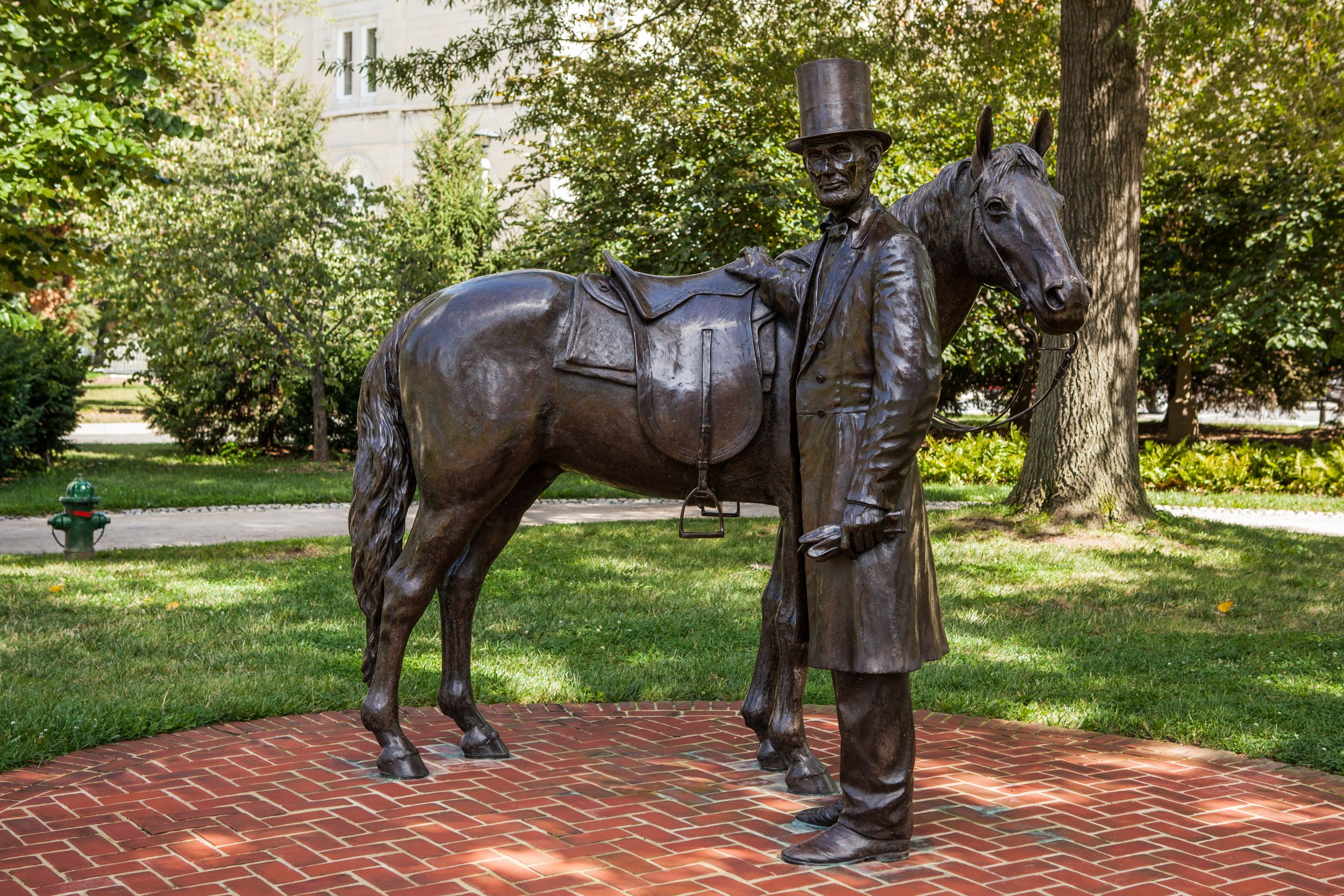 Abraham Lincoln and Horse Statue