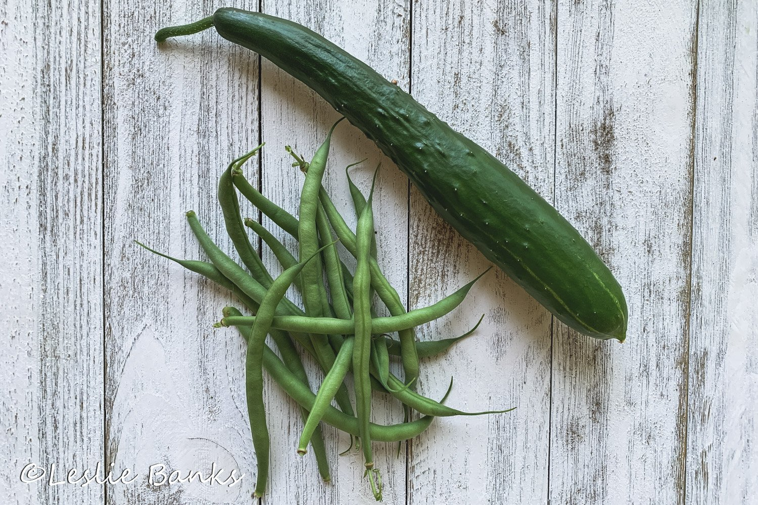 Cucumber and Bean Harvest