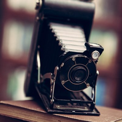 Vintage camera in office